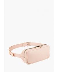 Розовая кожаная поясная сумка от IGOR YORK