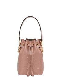 Розовая кожаная сумка-мешок от Fendi