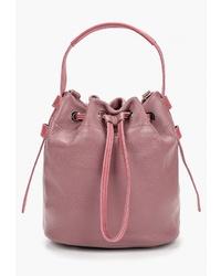Розовая кожаная сумка-мешок от Igermann