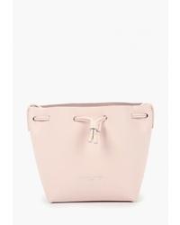 Розовая кожаная сумка-мешок от Lancaster