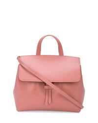 Розовая кожаная сумка-мешок от Mansur Gavriel