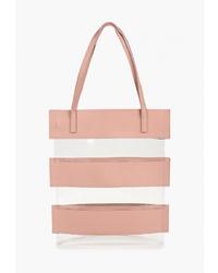 Розовая кожаная сумка-мешок от Ors Oro