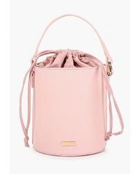 Розовая кожаная сумка-мешок от Skinnydip