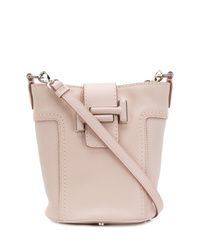 Розовая кожаная сумка-мешок от Tod's