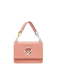 Розовая кожаная сумка-саквояж от Fendi