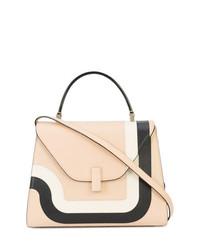 a22dab1ea1b2 Розовая кожаная сумка через плечо с геометрическим рисунком от Valextra