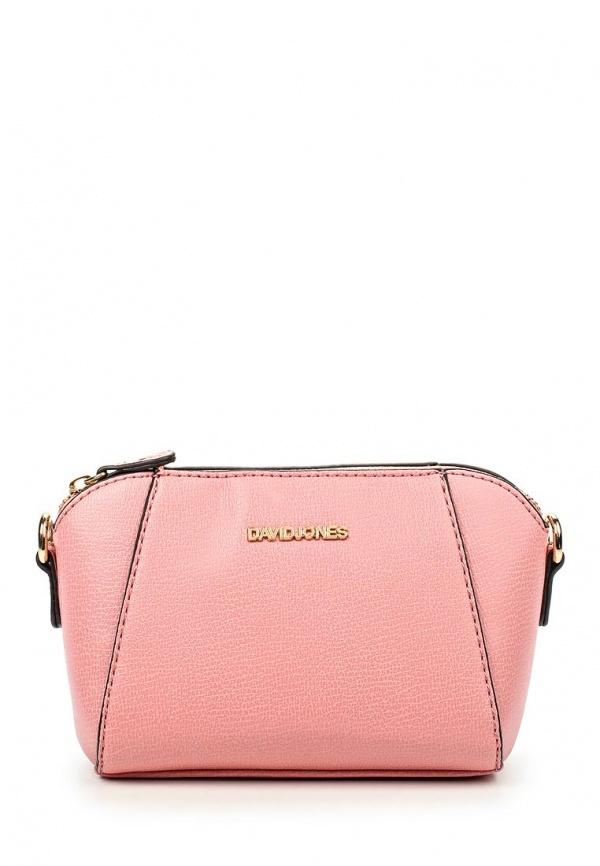 41a9663d03f4 Розовая кожаная сумка через плечо от David Jones, 1 899 руб ...