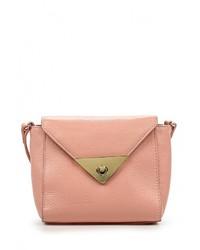 Женская розовая кожаная сумка через плечо от Labbra