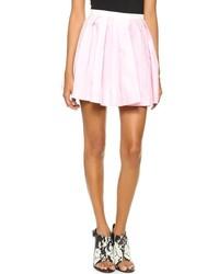 Розовая короткая юбка-солнце
