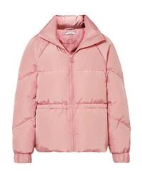 Розовая куртка-пуховик