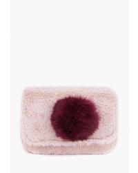Розовая меховая сумка через плечо от Kawaii Factory