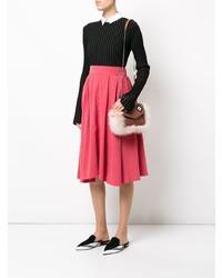 Розовая меховая сумка через плечо от Les Petits Joueurs