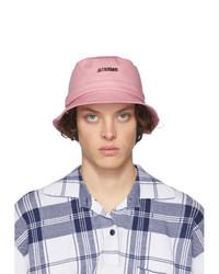 Мужская розовая панама от Jacquemus