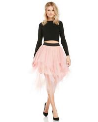 Розовая пышная юбка из фатина