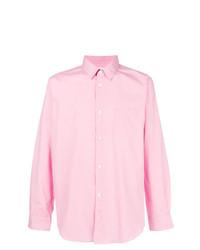 Мужская розовая рубашка с длинным рукавом от Comme Des Garçons Shirt Boys