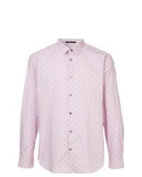 Мужская розовая рубашка с длинным рукавом от D'urban