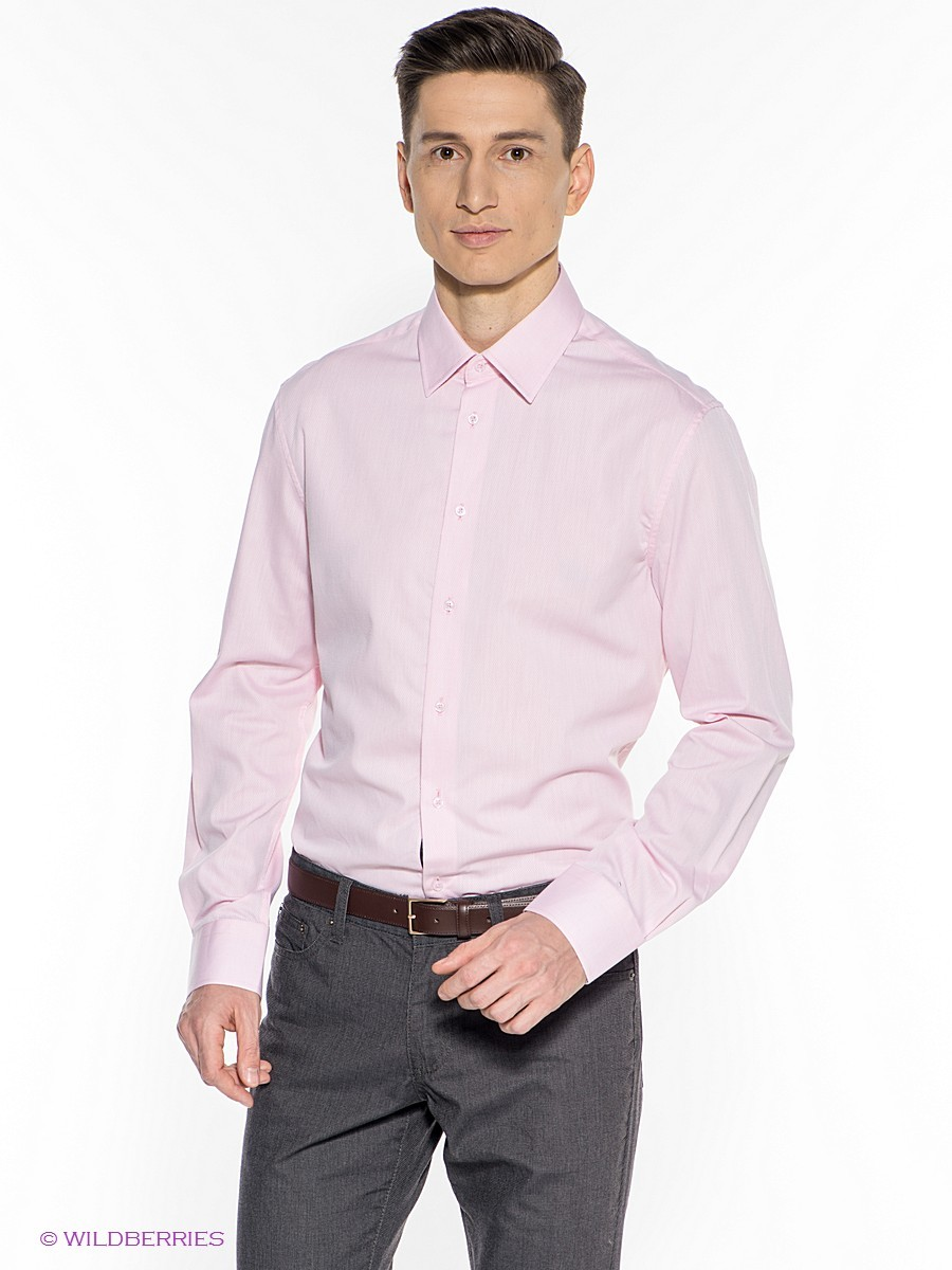 bf8a11ac923 ... Мужская розовая рубашка с длинным рукавом от Incity ...