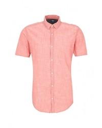 Мужская розовая рубашка с коротким рукавом от s.Oliver Denim