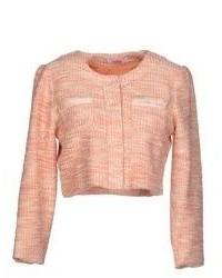 Женская розовая твидовая куртка от Blugirl