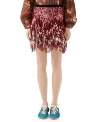 Розовая твидовая мини-юбка