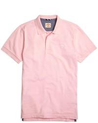 Розовая футболка-поло