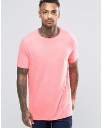 Мужская розовая футболка с круглым вырезом от Asos