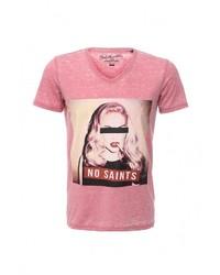Мужская розовая футболка с круглым вырезом от Best Mountain