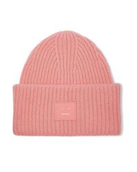 Женская розовая шапка от Acne Studios