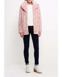 Розовая шуба от Glamorous