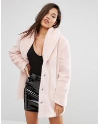 Женская розовая шуба от Missguided