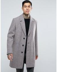 Мужское розовое длинное пальто от Asos