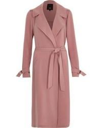 Розовое пальто дастер