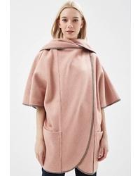 Розовое пальто-накидка от Alix Story
