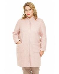 Женское розовое пальто от Gorda Bella