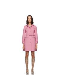 Женское розовое пальто от Gucci