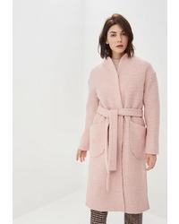 Женское розовое пальто от Rosso Style