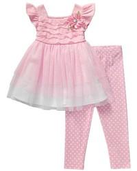 Розовое платье из фатина