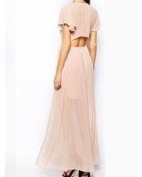 Розовое платье-макси