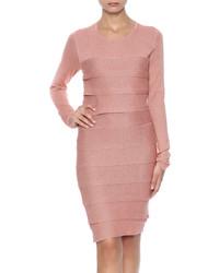 Женское розовое платье-свитер от BCBGMAXAZRIA