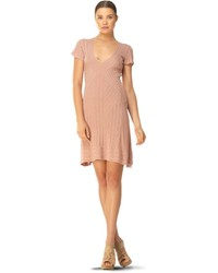Женское розовое платье-свитер от Max Studio