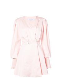 Розовое платье-смокинг