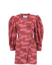 Женское розовое платье-смокинг от Lilly Sarti
