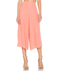 Розовые брюки-кюлоты