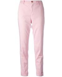 Розовые брюки чинос
