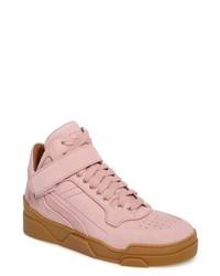Розовые высокие кеды