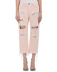 Розовые джинсы-бойфренды