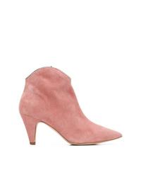 Розовые замшевые ботильоны от Rebecca Minkoff