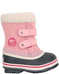 Розовые замшевые ботинки