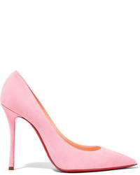 Розовые замшевые туфли от Christian Louboutin