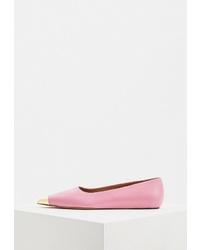 Розовые кожаные балетки от Marni